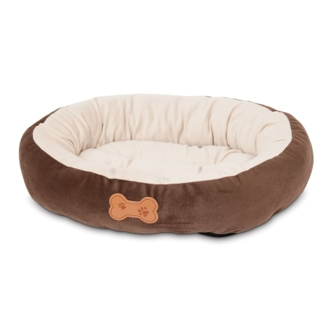 Aspen Pet Oval Bed with Bone Applique