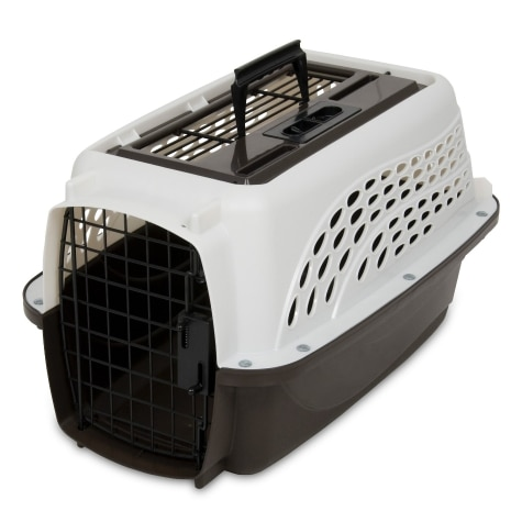 Petmate Two Door Plastic Dog Kennel For Travel Or Housebreaking